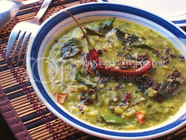 Palakura Pappu/Spinach Dal
