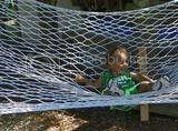 Micah in hammock