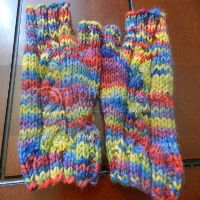 Child/youth fingerless mitts seconds